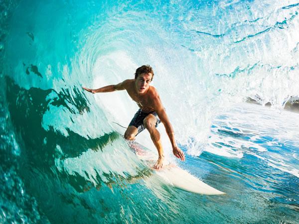 Surfing Braunton, Devon