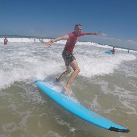 Surfing Sunshine Coast Surf School,