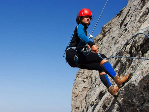 Abseiling ,