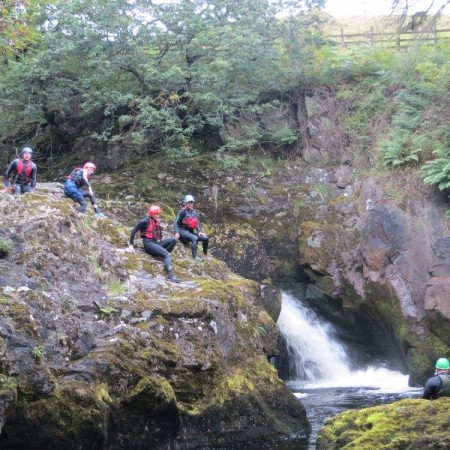 Canyoning Eskdale, Lake District, Cumbria