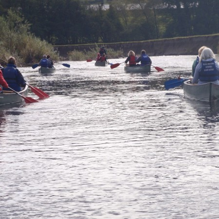 Canoeing Brecon, Powys