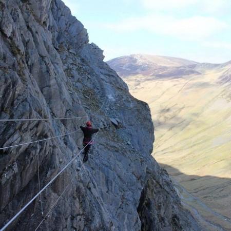 Rock Climbing Honister Slate Mine, Cumbria, Cumbria