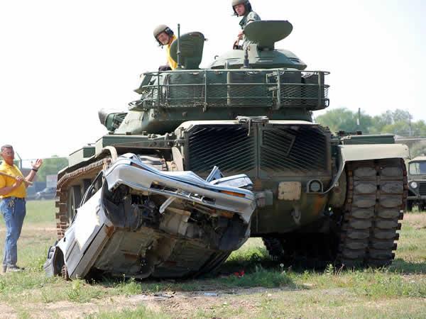 Tank Driving Dorrington, Shropshire, Shropshire